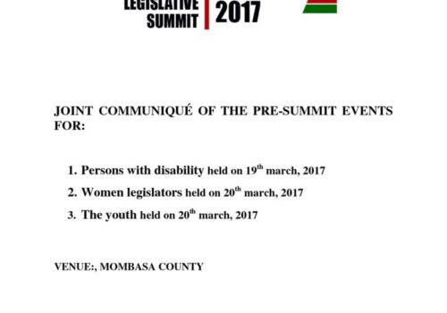 Thumbnail Of COMMUNIQUE OF THE PRE-SUMMIT EVENTS 19-20 March 2017