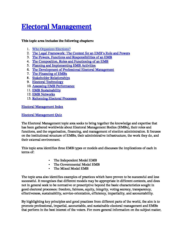 Electoral Management - Gender in Kenya