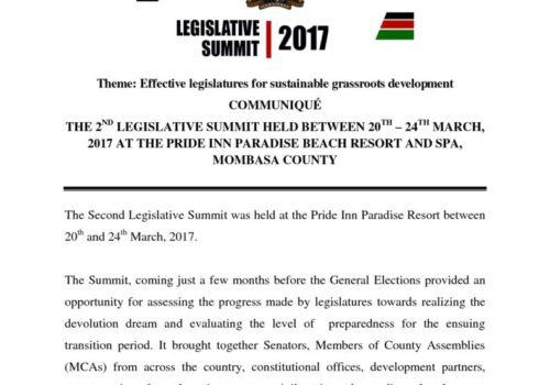 Thumbnail Of FINAL Communique 2017-2ND LEGISLATIVE SUMMIT (1)