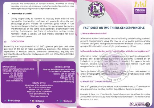 Thumbnail Of Fact Sheet On Gender Rule FIDA