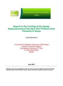 Thumbnail Of Party Primaries Tracking Report – CMD